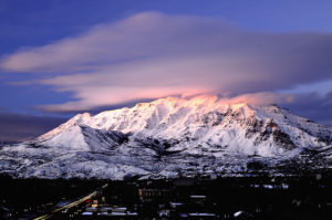 Mount Timpanogos from Provo