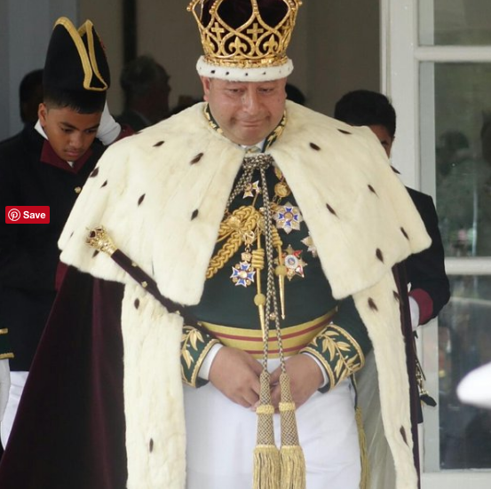 Tonga's King Tupou IV on his coronation day.